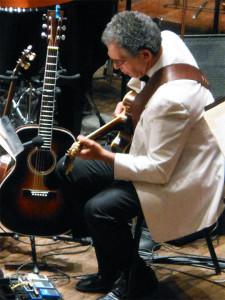 Guitarist Dave Ivaz performing with Vancouver Symphony Orchestra